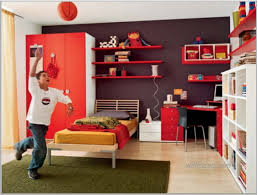 bedroom dazzling red floating wall shelf cupboard study
