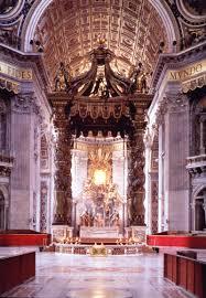 baldacchino by bernini st s papal altar baldacchino