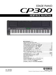yamaha cp 300 service manual