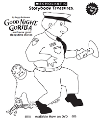goodnight gorilla coloring page g pinterest book activities