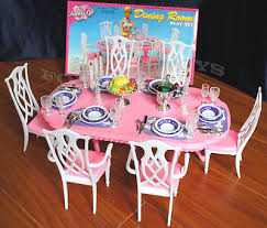 Barbie Dining Room Set Barbie Furniture Collection On Ebay