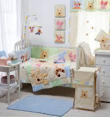 Unisex Crib Bedding Sets Disney Hiding Pooh Crib Bedding Collection 4 Pc Crib Bedding Set