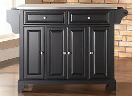 black kitchen island with stainless steel top buy newport kitchen island with stainless steel top base finish black