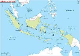 location of australia on world map where is jakarta located