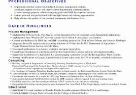 telecom operations manager sample resume awesome sample project