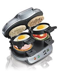 Buy Hamilton Beach A Dual Breakfast Sandwich Maker by Hamilton