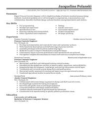 Testing Resume For 1 Year Experience Best Process Controls Engineer Resume Example Livecareer