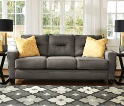 ashley furniture forsan gray nuvella fabric upholstered sofa with