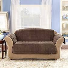 Sofa Loveseat Covers by Amazon Com Sure Fit Deluxe Pet Cover Loveseat Slipcover