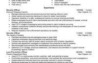 Security Guard Resume Example by Nice Inspiration Ideas Security Guard Resume Examples 8