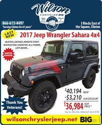 jeep calendar 2017 wilson chrysler jeep ad from 2017 12 16 ad vault pantagraph com