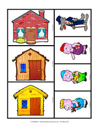 pigs sequencing cards conte les 3 petits cochons