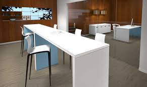 Bar Height Conference Table Chairs Mediaspace Multimedia Collaboration Table Small Mooreco