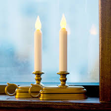 lights flameless candles taper candles white 9