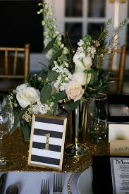 modern table numbers modern black and gold wedding ideas every last detail