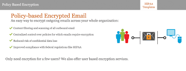 email security hipaa templates