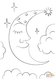 coloring page coloring pages moon skillful page and stars