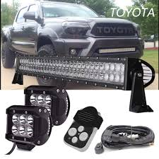 Led Flood Light Bars by 30 U0026 034 Led Light Bar For 2016 2017 Toyota Tacoma Off Road Spot