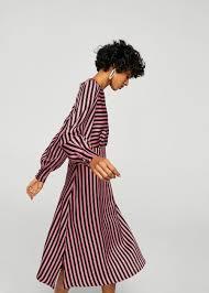 midi dress striped midi dress woman mango united kingdom