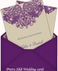 Sikh Wedding Card Pretty Sikh Wedding Cards So Pretty Invitations And Greeting Cards