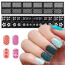 hollow stickers nail art print template nail foils 3d nail