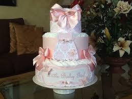 baby diaper cake pink elegant diaper cake baby shower