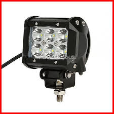 Led Work Light Bar 4 18w cree led driving work fog light bar offroad suv atv 4wd 4x4
