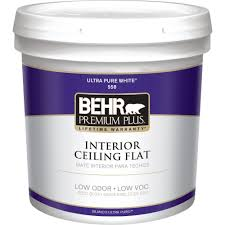 home depot interior paint brands behr premium plus 5 gal white flat ceiling interior paint 55805