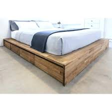 6 Drawer Bed Frame Platform Bed With Storage Charming White Bed With