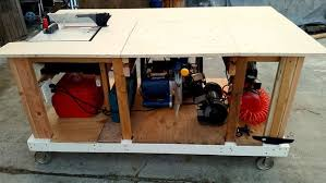 table saw workbench plans impressive mobile workbench plans diy free download how to build a