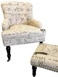 french country chic contemporary wingback chair u0026 ottoman u2013 home