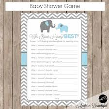 who knows baby shower baby shower who knows best elephant theme who