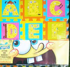 buy spongebob squarepants letters u0026 numbers foam floor mat puzzle