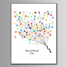 baby shower fingerprint tree customize name fingerprint diy signature guest book for wedding