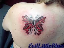 tree frog butterfly by evillittleblue on deviantart