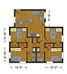 Texas Floor Plans by Carpenter Wells Hall Halls Housing Ttu
