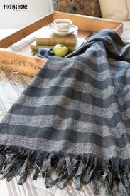 Fleece Throws Blankets 10 Minute Decorating No Sew Plaid Flannel Blanket Finding Home