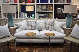 Pillow Arm Sofa Slipcover by Corrine English Roll Arm Striped Sofa Mecox Gardens