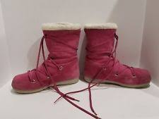 womens moon boots size 9 tecnica s suede boots ebay