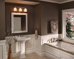 Bathroom Mirror Light Fixtures Impressive Bathroom Mirror Light Fixtures Above Polished Nickel
