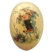 vintage paper mache easter eggs 1 2 vintage bunny painter papier mache easter egg container germany