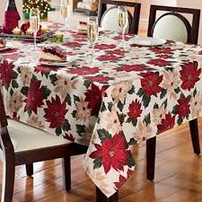 poinsettia tablecloths collection on ebay
