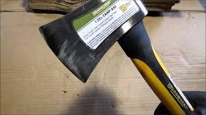 yardworks 1 25 lb camp axe youtube