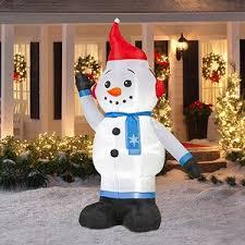 outdoor light up snowman u2022 holiday décor u2013 season charm