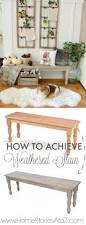 How To Remove Water Rings From Wood Table How To Achieve A Weathered Wood Stain On Furniture Driftwood