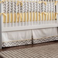yellow and gray chevron crib bedding special gray chevron crib