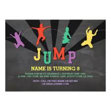jump invitations announcements zazzle