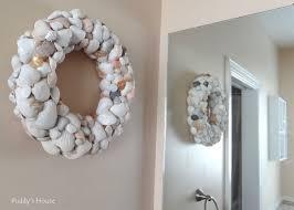 marvelous diy shell mirror cool seashell wreath