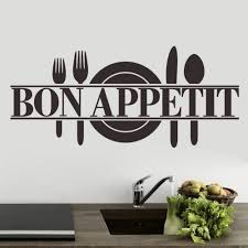 fashion wall mural promotion shop for promotional fashion wall free shipping quotes sayings bon appetit kicthen wall sticker home art decor decals fashion wall murals es 100
