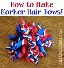 korker bows how to make korker hair bows the frugal